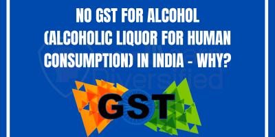 No GST for alcohol