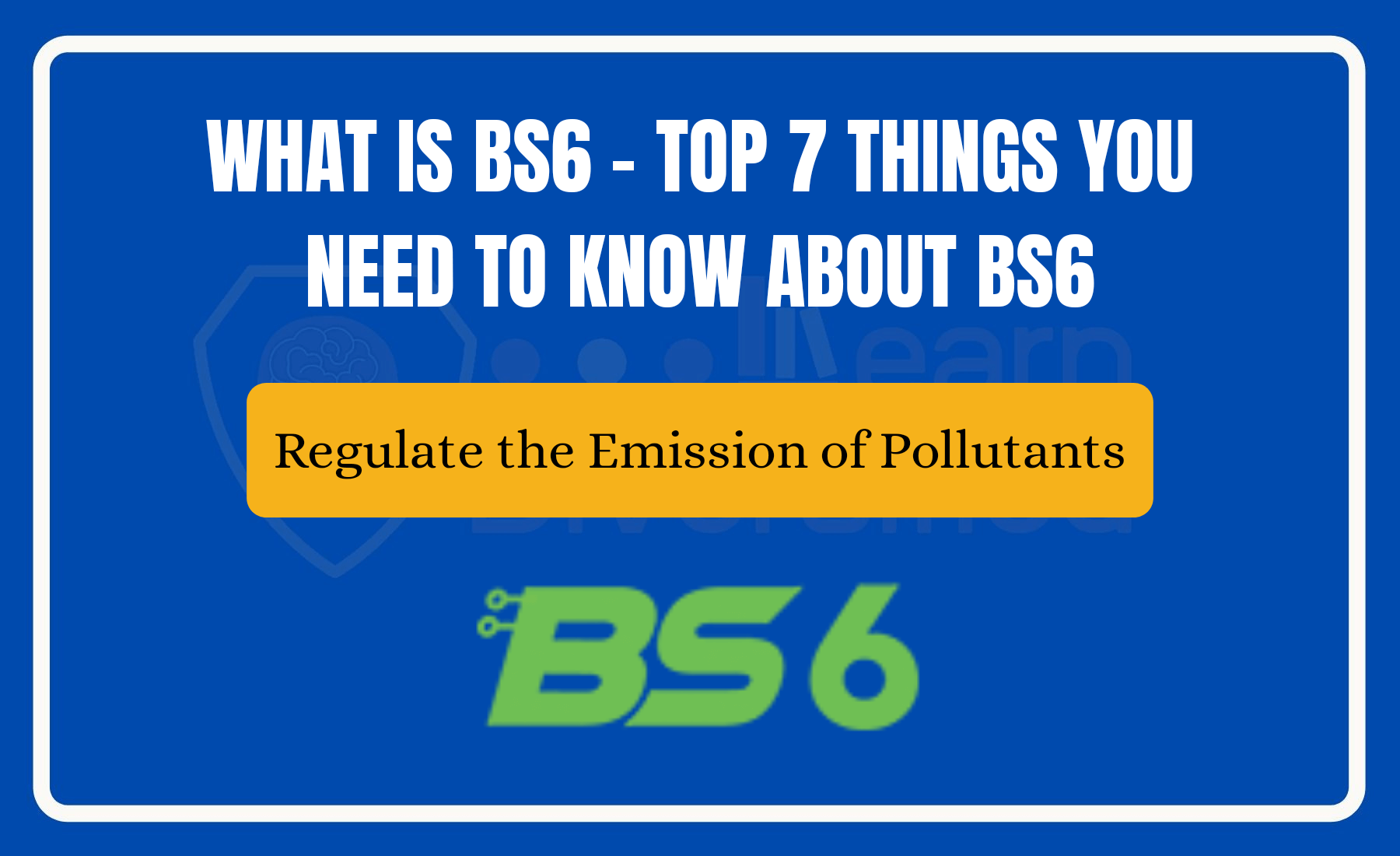 BS 6 engines