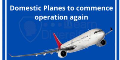 Domestic flights to resume operation