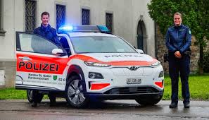 Hyundai's electric vehicles - European police's love