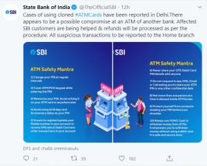 SBI tweet screenshot