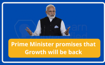Prime Minister promises growth back