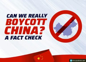 Will India be able to boycott Chinese products?