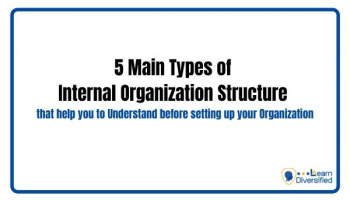 5 Main Types of Internal Organisation Structure that help you to Understand before setting up your Organisation