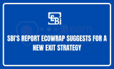 """SBI's report """"Ecowrap"""" suggests for a new exit strategy"""