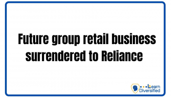 Future group retail business surrendered to Reliance