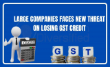 LARGE COMPANIES FACES NEW THREAT ON LOSING GST CREDIT